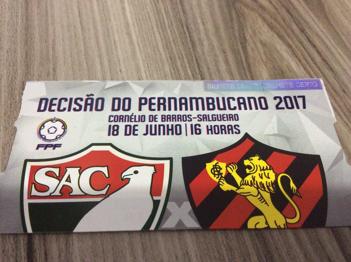 Esse ingresso é inédito!! PRIMEIRA FINAL DA HISTÓRIA.... No interior do estado de Pernambuco..