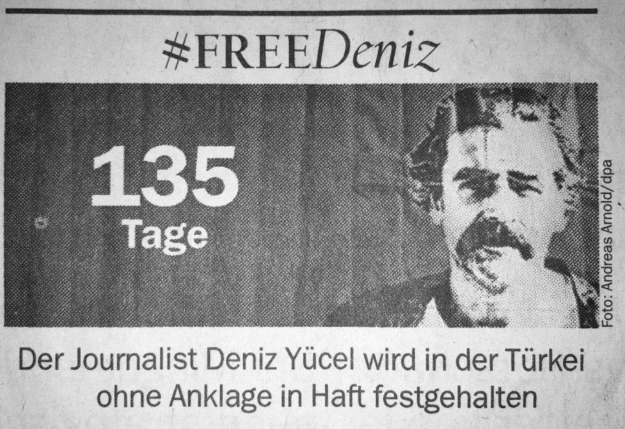 Tag 135. Einzelhaft ohne Anklage. #FreeDeniz