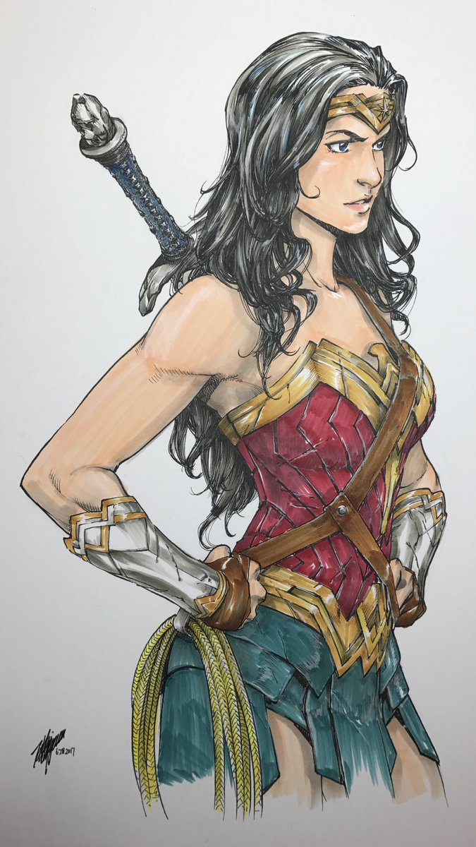 Finished! #wonderwoman #dc #comics #copics https://t.co/huuBuVFt1D