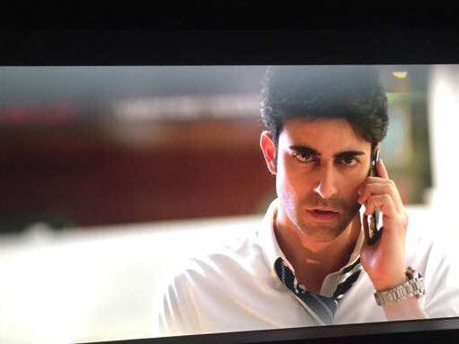Clicked from the screen.. #Aksar2 @ananthmahadevan
