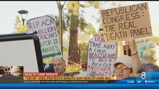 'Die in' vigil protests Senate GOP health care bill https://t.co/tQZLhl1YYC