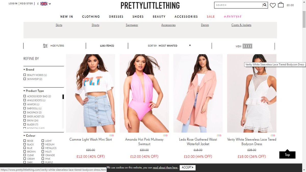 Huge #sale in #womens dresses, tops, skirts, swimsuit, jacket and jeans.  -  https://www. prettylittlething.com/sale/view-all- sale.html?navigation-sale &nbsp; …  Via. @OfficialPLT<br>http://pic.twitter.com/pTPWxZrO3F