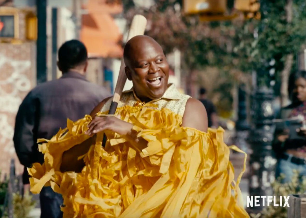Rewatching the new season of #UnbreakableKimmySchmidt because this is one of the greatest moments in TV. <br>http://pic.twitter.com/HffhOAw0p8