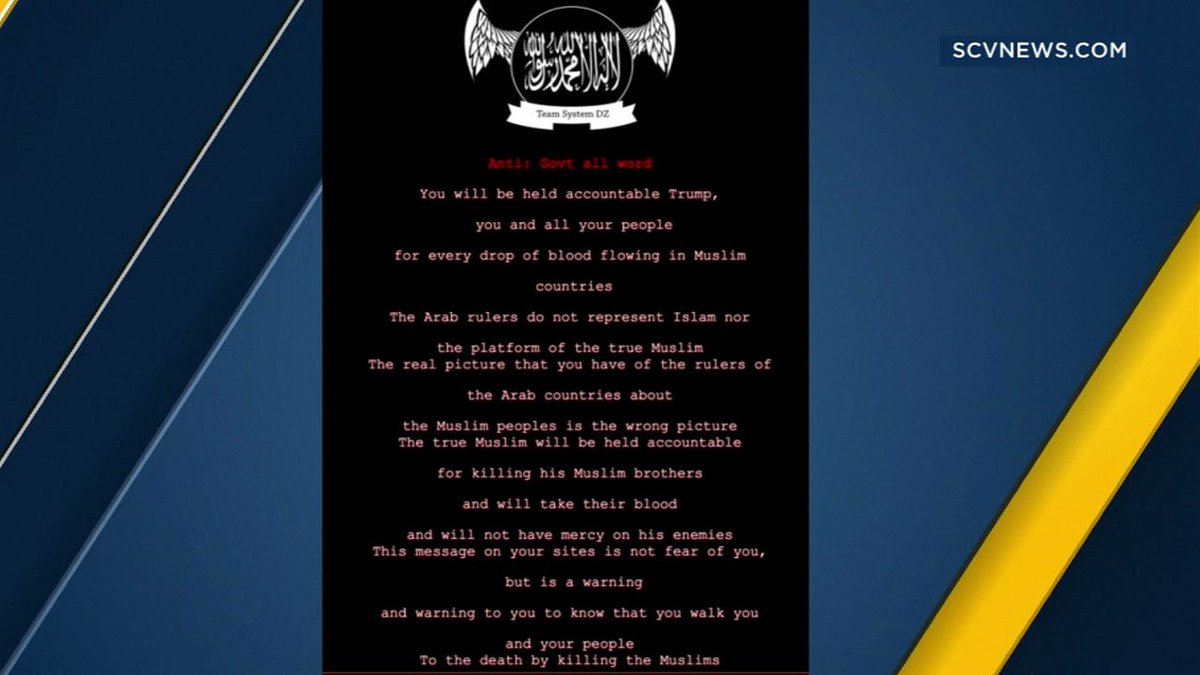 LA County website hacked, planted with pro-ISIS messages https://t.co/ZEzdUQrNxq
