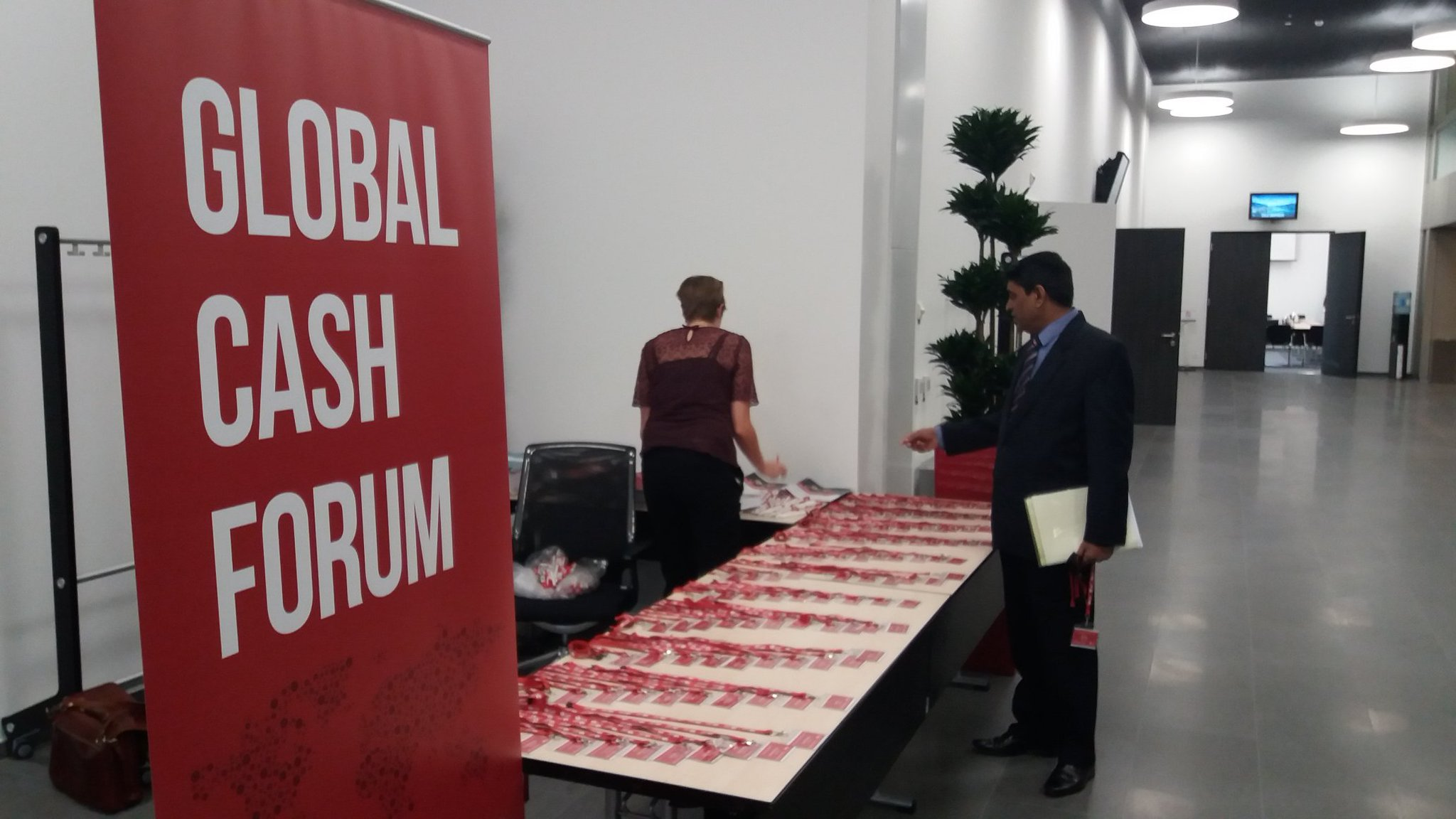 The day arrives! Today is all about the #globalcashforum! And here's our first registrant https://t.co/OGiIECSWCN