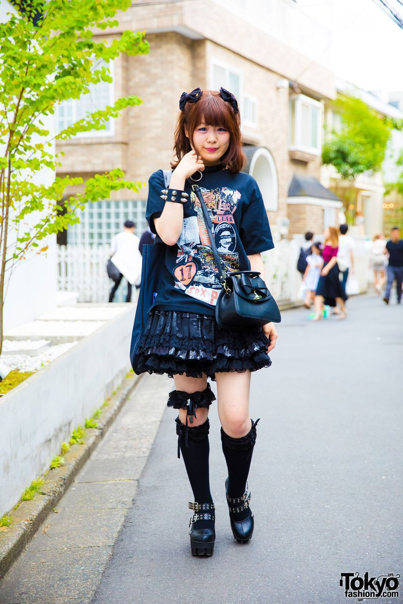 Harajuku goth girl in dark style by Sexy Dynamite London, Hell Cat Punks, MilkBoy & Baby The Stars Shine Bright  #原宿https://t.co/KTKm6LHEgV