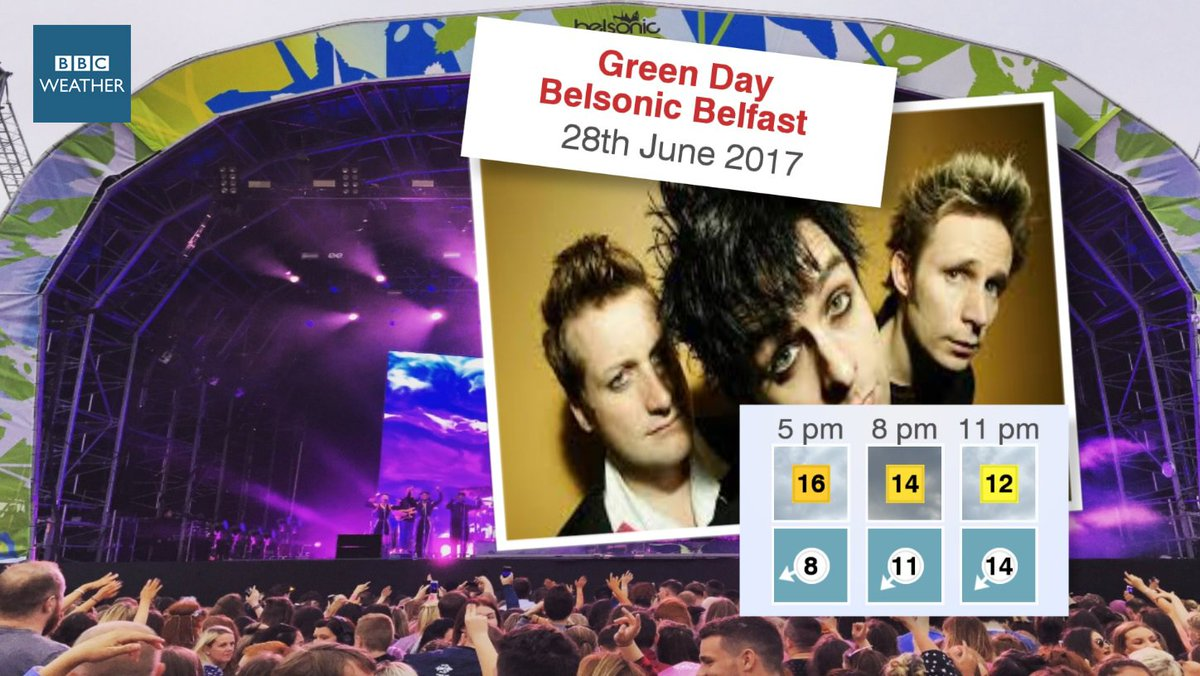 It looks set to be mainly dry for @GreenDay at @belsonicbelfast this e...