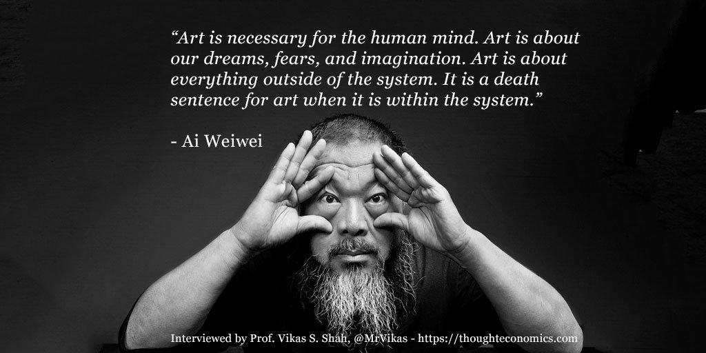 RT @MrVikas: My interview with @aiww #aiweiwei - artist, activist and thinker https://t.co/ti7fIJ4D3Z https://t.co/KSH4TXwMEr
