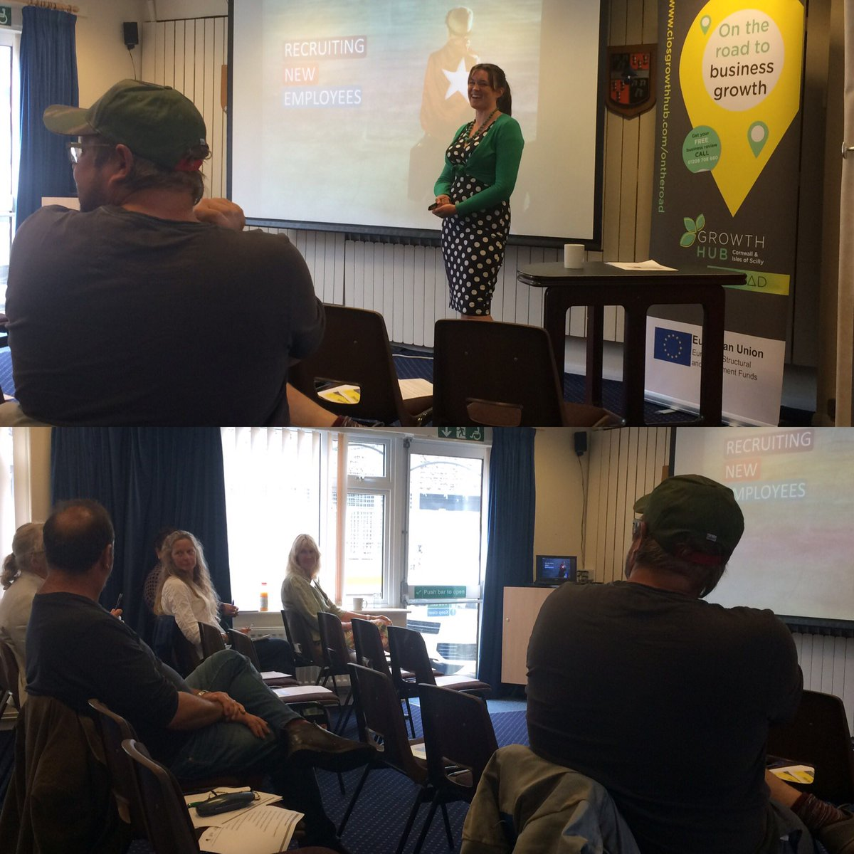 Lucy Cox @UP_Cornwall talking about Recruiting new employees @CallingtonTC #TownTakeover <br>http://pic.twitter.com/7oZsymgJQX