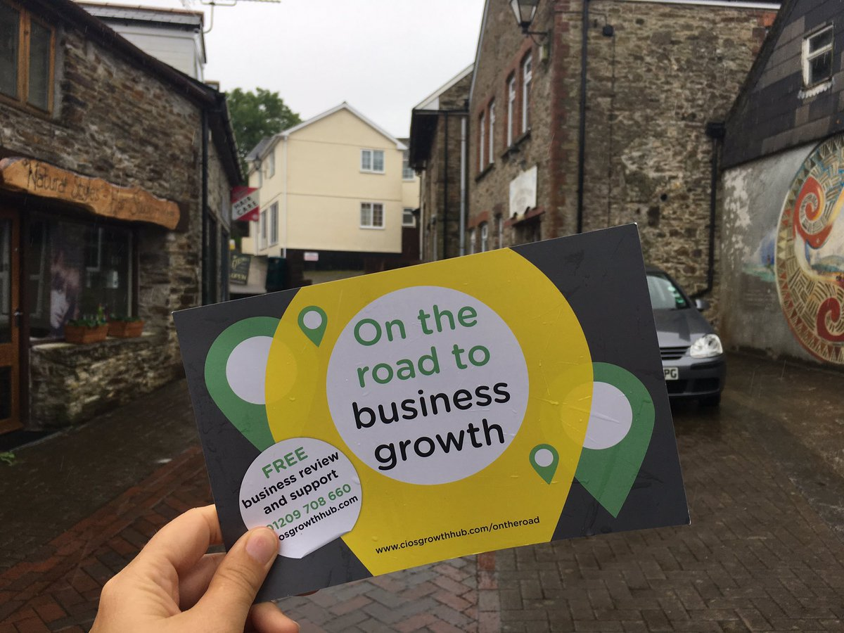 Visiting businesses in Callington for our #TownTakeover talking about...