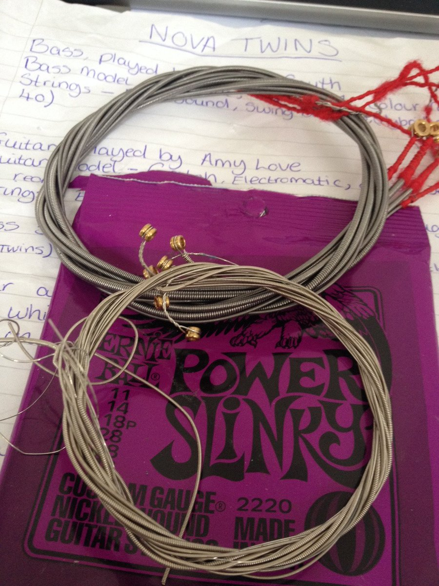 nice used @rotosound_uk and @ernieball  strings from @NovaTwinsMusic the girls are supporting @MindCharity  #charity #savetheplanet #jewelry<br>http://pic.twitter.com/cjU0bWDNjW