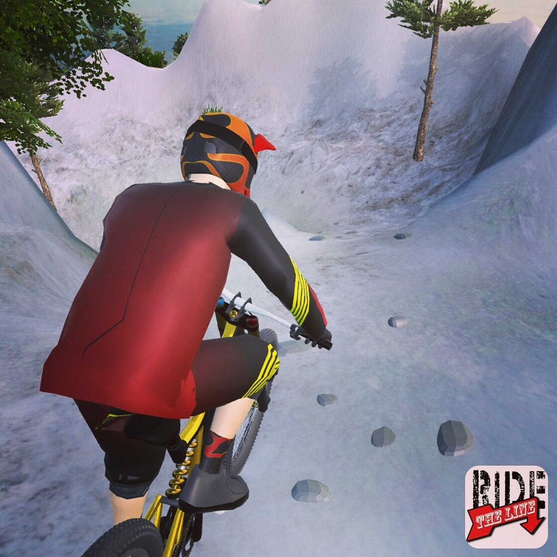 Another test run shot with the completed bike/rider rig.  #mtb #gamedev #indiedev #appdev #VR #startup #sport #health #science<br>http://pic.twitter.com/qvTvPCKYV0