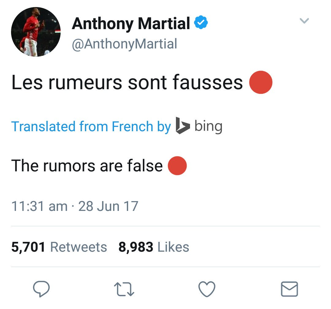 Anthony Martial has his say after rumours about a possible Oasis reuni...