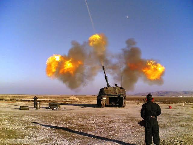 Bir Top atışı var Sanırsın TSK #Afrin'i...