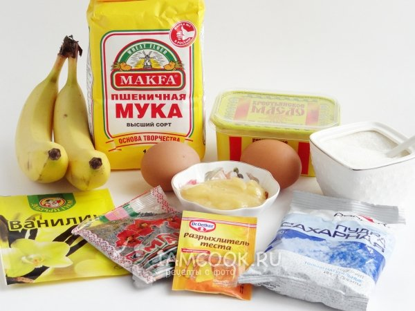 банановый кекс рецепт в духовке