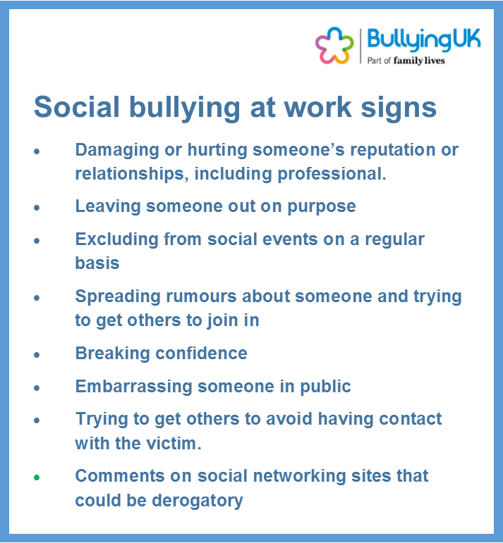 Relational bullying at work - dealing with social bullying in the workplace https://t.co/4ChHiYiCIj https://t.co/FFsTxHmuGg