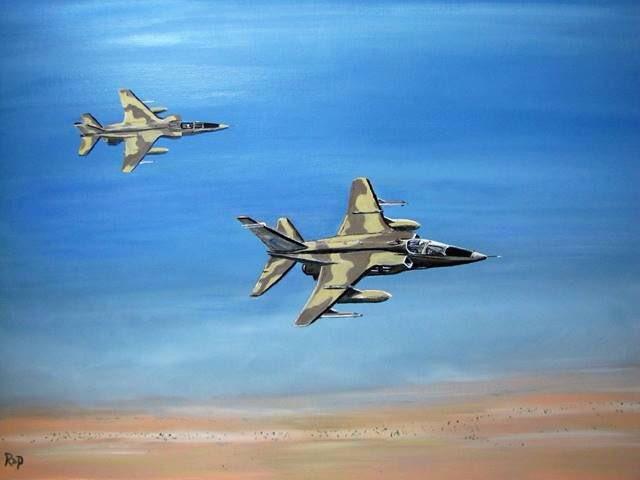 #ArtOfTheDay #Artist: Robert Pollock 3 #SEPECAT #Jaguars, 70x50cm, oil on stretched canvas Copyright with Artist  http:// robpollockart.com / &nbsp;  <br>http://pic.twitter.com/hky6xJPliH