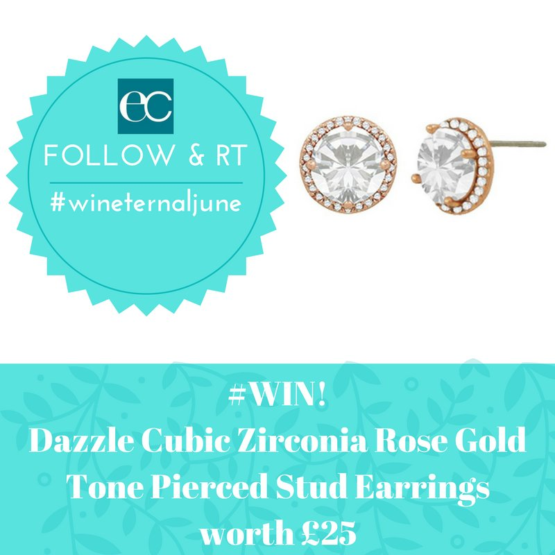 June #Giveaway! #Follow #RT to #win Cubic Zirconia Rose Gold Tone Pierced Earrings #wineternaljune #winitWednesday  UK Only ENDS 30/6/17<br>http://pic.twitter.com/d2qQ3vLsyc
