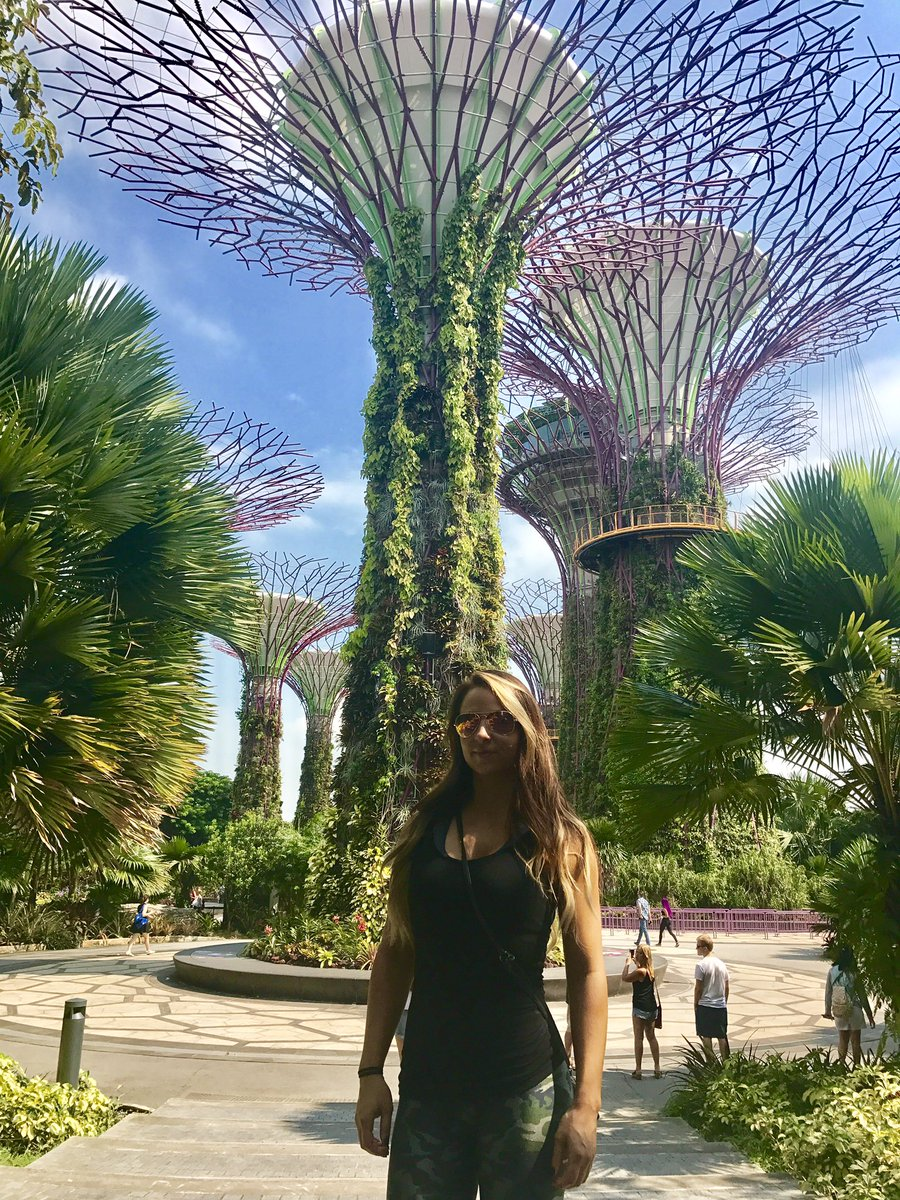 Singapore is beautiful!!! 💖  Can't wait to wrestle here tonight for the 1st time with #WWE!