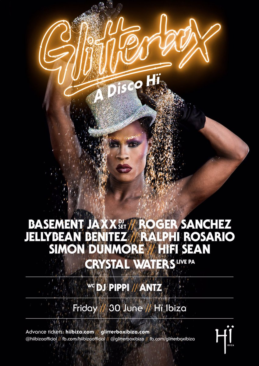 Legendary lineup @hiibizaofficial 4 @glitterboxibiza this Friday! 3 rooms of incredible music...well 2 rooms & the now world famous toilets!