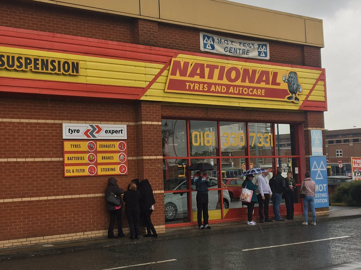 Police and ambulance services are at Ashton Retail Park along with bomb disposal experts after a suspicious package was found.