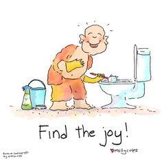 Find the #JOY  wherever you are!   #JoyTrain #Joy #Love #Peace #Inspiration #GoldenHearts #IAM #StarfishClub #IQRTG #MentalHealth #Mindfulness #ChooseLove #Quote #TuesdayThoughts #TuesdayMotivation #TuesdayMorning #kjoys00 RT @OFlowYoga @BuddhaDoodle
