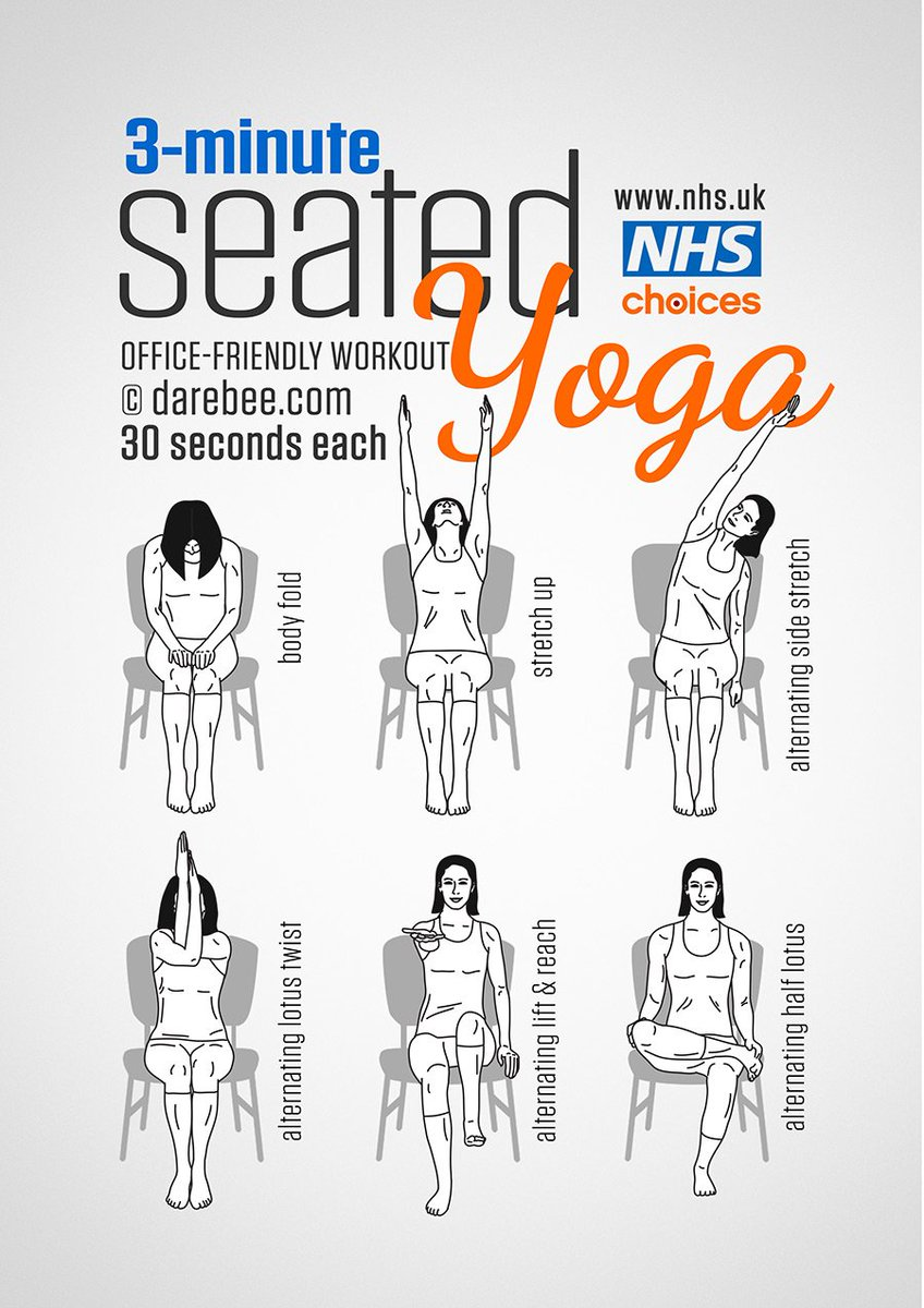 Try this seated Yoga workout to fight off stiffness. More here: https:...