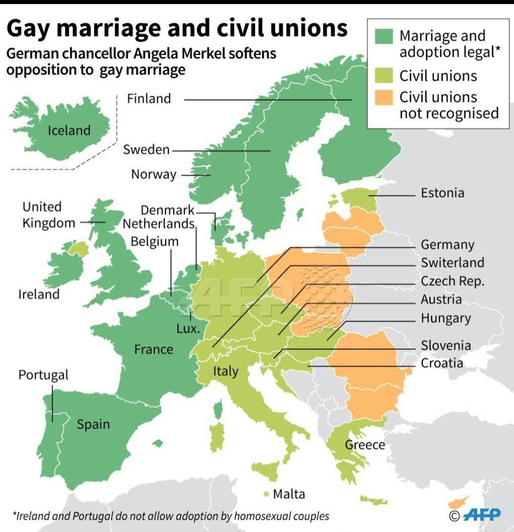 Which european countries allow same sex marriage