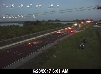 TRAFFIC: All roads open this am after rains helped bring wildfire under control. FHP reports no visibility issues from smoke at this time.