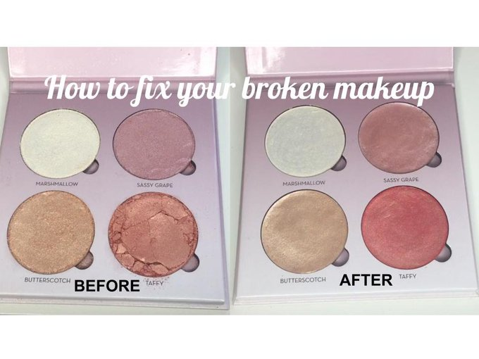How to fix broken makeup !