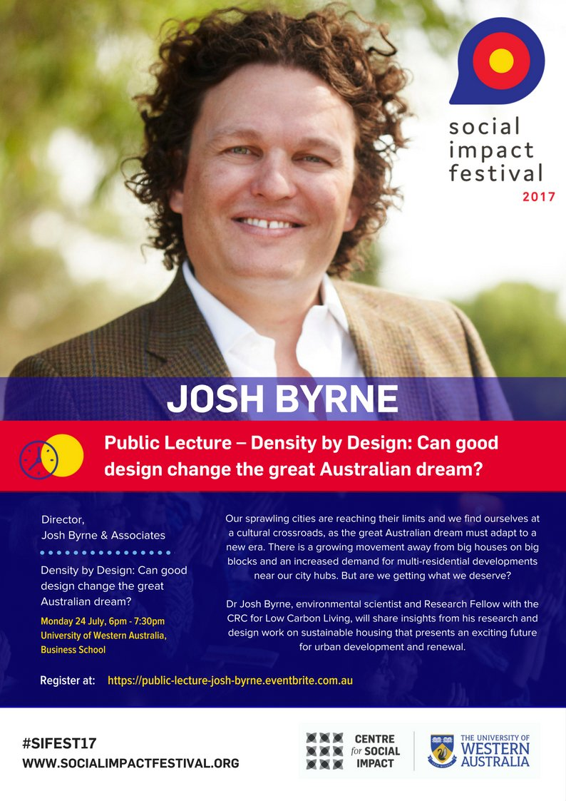 Can good design change the Australian dream? #Sustainable #housing for #urban development &amp; renewal  https://www. eventbrite.com.au/e/public-lectu re-dr-josh-byrne-density-by-design-can-good-design-change-the-great-australian-dream-registration-34847256081 &nbsp; …  #SIFEST17<br>http://pic.twitter.com/tcUogkNJ2N