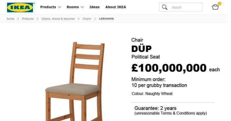 IKEA have some new furniture to mark Theresa May's deal with the DÜP (...
