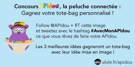 Concours #AvecMonAPIdou sur Twitter