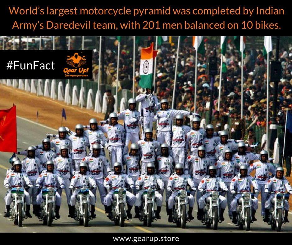 They hold a place in Guinness book of world record. The Pyramid travelled for a distance of 129 mtrs after formation. #FunFact <br>http://pic.twitter.com/F8tHQevZWp