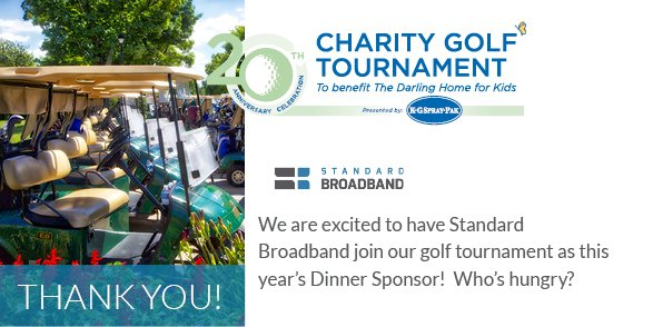 #Thanks Standard Broadband for your sponsorship of our charity golf tournament! darlinghomeforkids.ca/golf #golf #CharityGolf