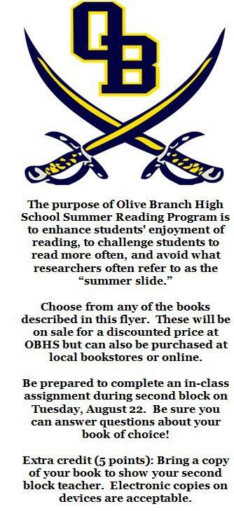 Olive Branch High School ⚔️🌑🌕⚔️ on Twitter: