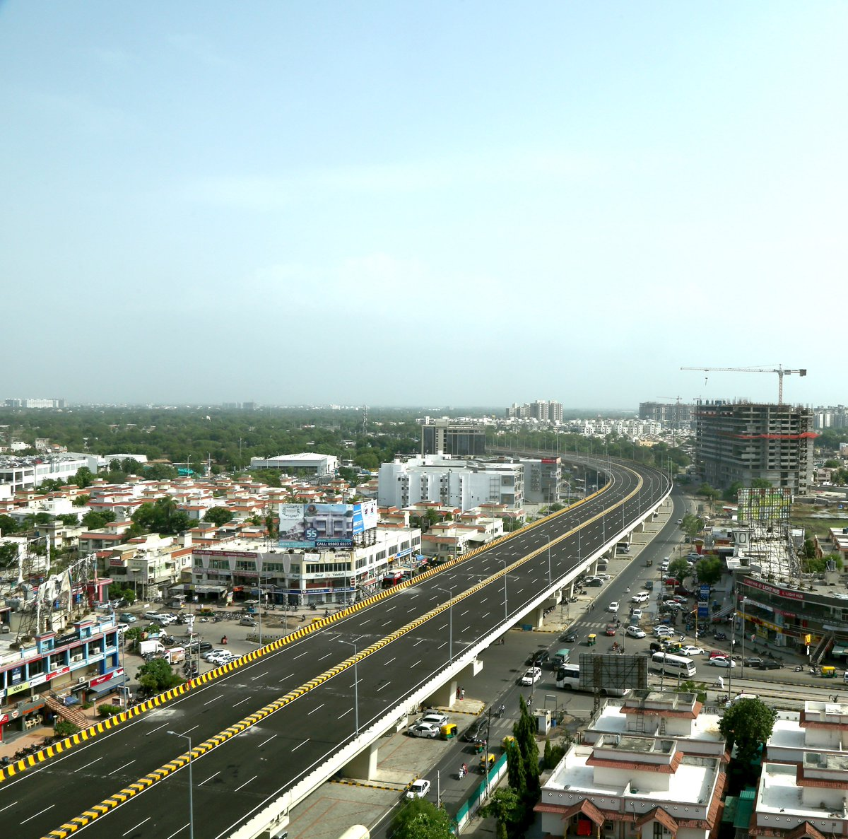 Bopal flyover on Sardar Patel ring road opens for traffic, named as Lakshmanrao Inamdar ( Vakil Saheb ) bridge