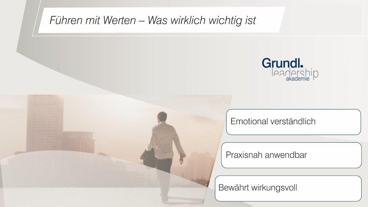 #Führen mit #Werten - jetzt anmelden für das #Tagesseminar der #GrundlLeadershipAkademie am 4.11.2017 in #Stuttgart: http://buff.ly/2toDYeG