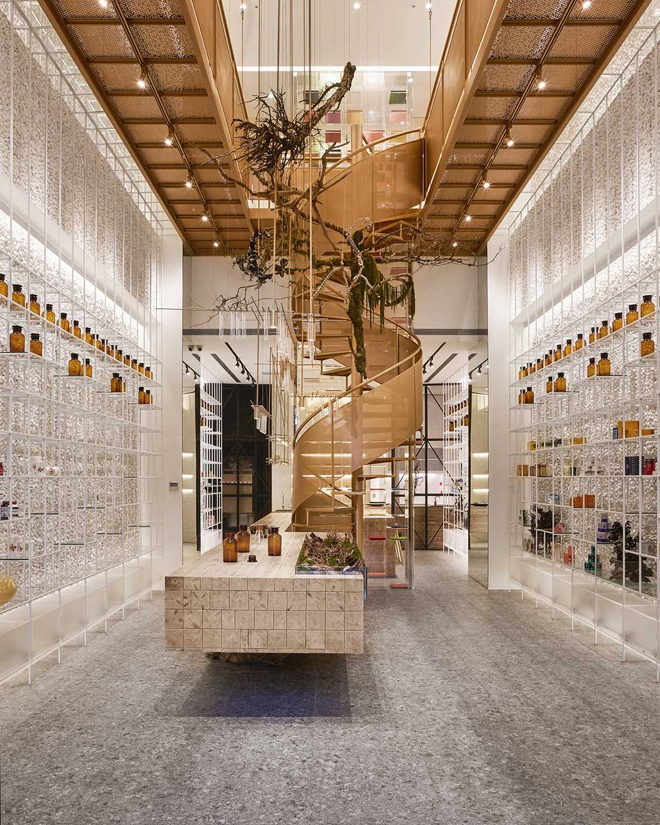 World architecture on twitter this pharmacy features varied spaces to experience different curing processes in artful environment https t co xqwxxersga