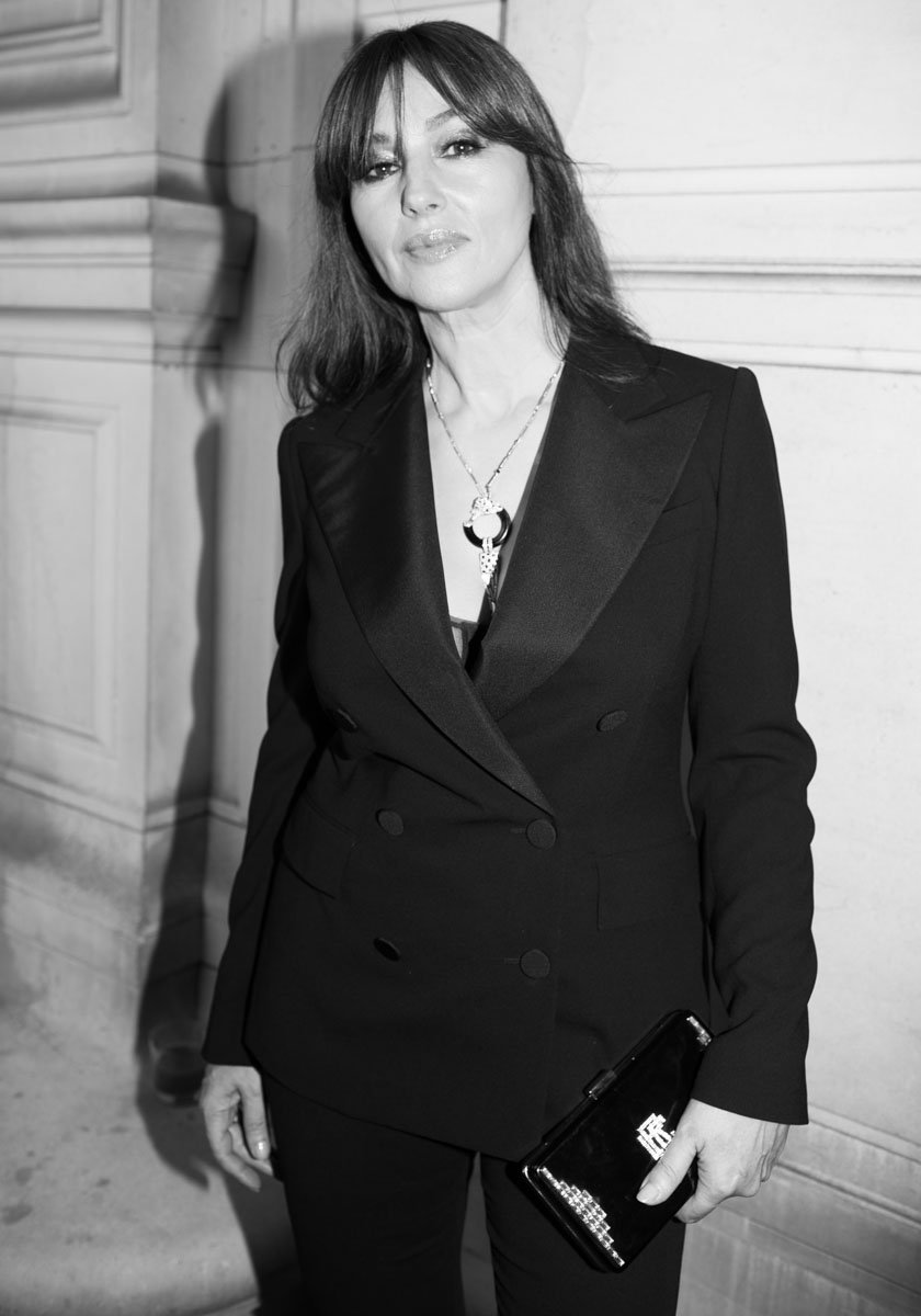 monica bellucci wears an iconic ralph lauren collection tuxedo to the  vogueparis foundation gala rliconicstyle 5bbac30e1a372