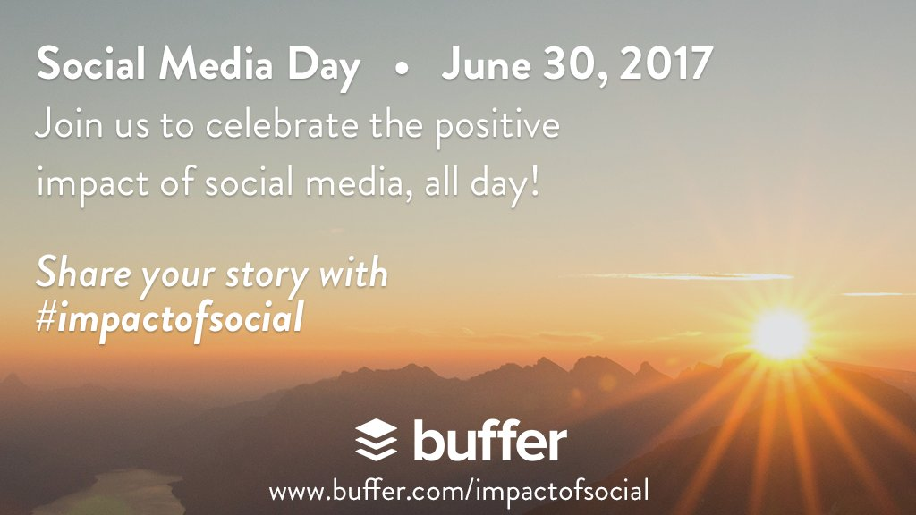 p.s. #bufferchat, we're celebrating #SMDay on June 30! Check out the plan for the day (incl swag + live streams) at  http:// buff.ly/2uembGa  &nbsp;  <br>http://pic.twitter.com/0euzV7sUn9