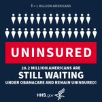 28.2M Americans are still waiting under #Obamacare and remain uninsured. They need relief now. #RepealAndReplace