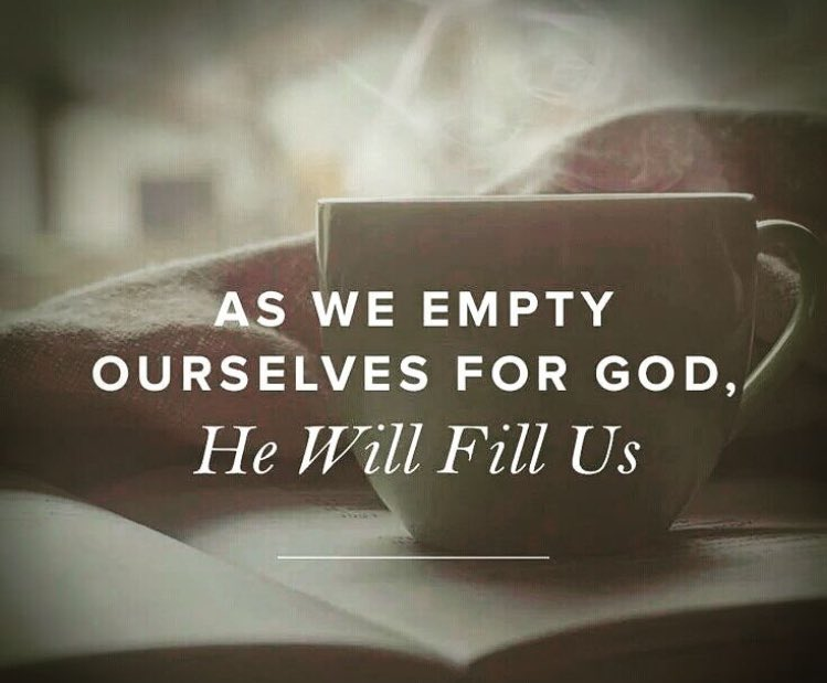 As we Empty  Ourselves For GOD, He will Fill Us.. #Amen <br>http://pic.twitter.com/qWCjd3u8oy