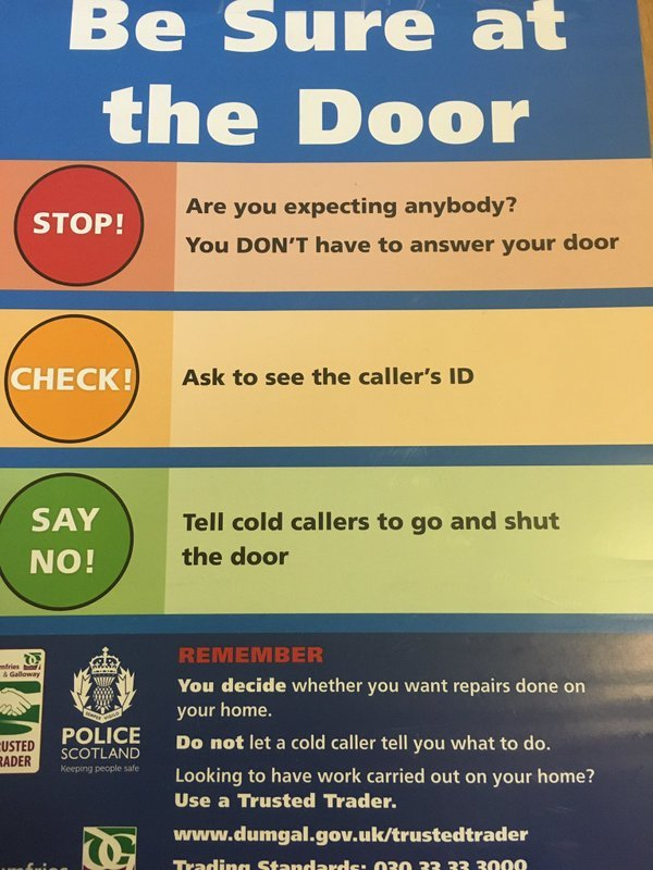 Good advice from @NithsdalePolice  #homesecurity #stopdoorstepcrime<br>http://pic.twitter.com/tbgWCa5ISY