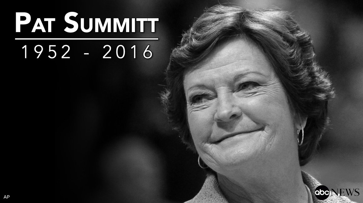 Legendary basketball coach Pat Summitt passed away one year ago today....