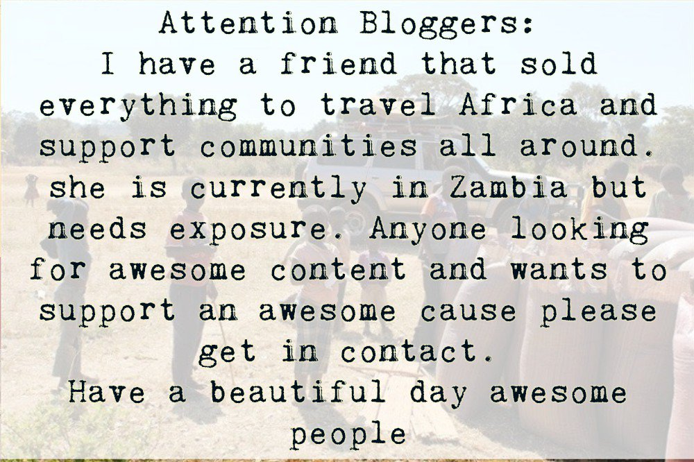 Please Share with all that can #support #blogger #socialmedia #Africa <br>http://pic.twitter.com/CAfScumzsV