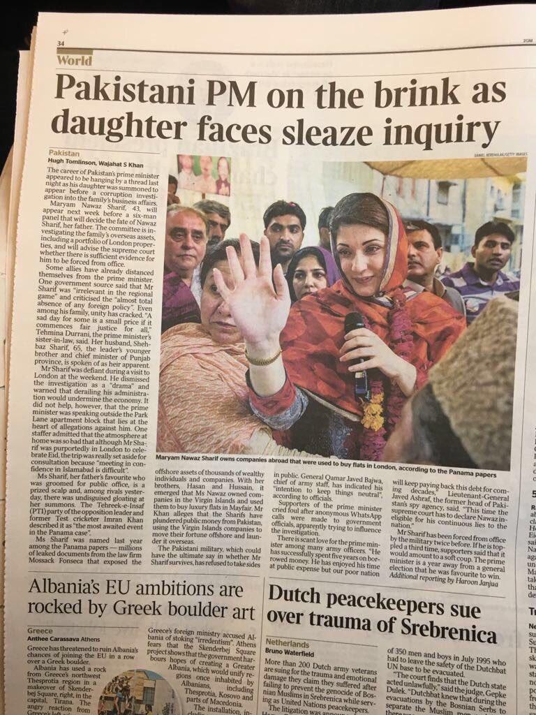 Embarrassing headine by a British Newspaper  #panamapapers #corruption #pakistan<br>http://pic.twitter.com/7ddaBOX1dv