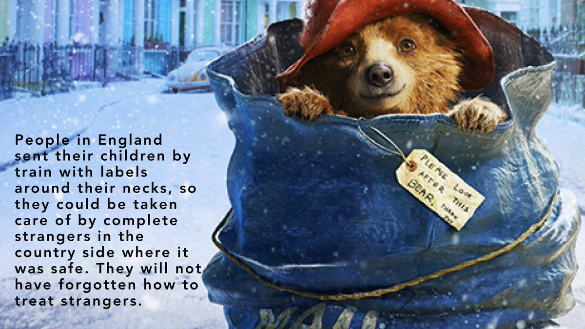 Thank you #MichaelBond (1926-2017) for changing the way we look at strangers & refugees. #paddington https://t.co/0zGG4iZFFB
