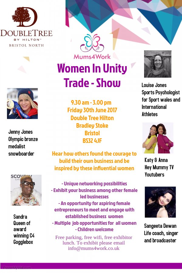 R U a #mum looking for #work or a #WomeninBusiness who wants 2 #network book your #Free #tickets to #WomenInUnity  https://www. eventbrite.co.uk/e/mums4work-wo men-in-unity-trade-show-tickets-31899192343 &nbsp; … <br>http://pic.twitter.com/xRbsmc5K2A