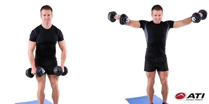 #Shoulder Exercise 1: Do 3 sets of 12 lateral raises. #WorkoutWednesda...